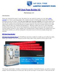 WP Deal Page Builder How Build Deal Website With Wordpress