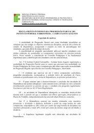 Regulamento Interno para Progressão Parcial do Instituto Federal ...
