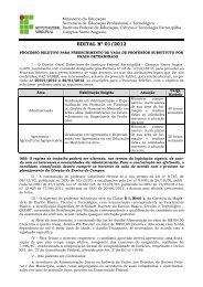 EDITAL Nº 01/2012 - Instituto Federal Farroupilha