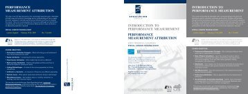 INTRODUCTION TO PERFORMANCE MEASUREMENT ...
