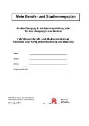 Rahmenvorgaben für die Berufs- und Studienorientierung - Hamburg