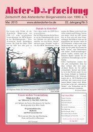 Ausgabe Mai 2013 - Alsterdorfer Bürgerverein