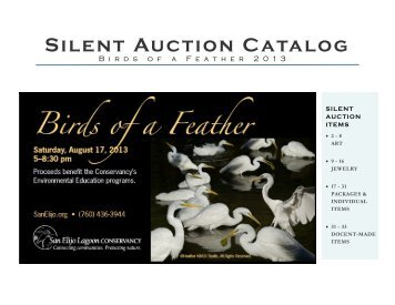 Silent Auction Catalog - San Elijo Lagoon Conservancy