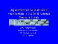 Organizzazione delle procedure vaccinali: dott. Turello