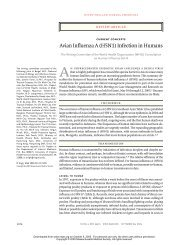 Avian Influenza A (H5N1) Infection in Humans