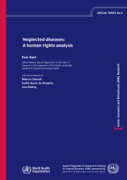 Neglected diseases: A human rights analysis - World Health ...