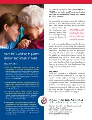 Since 1993 – working to protect children and families in need
