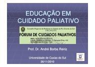 Educação em Cuidado Paliativo - Prof.Dr.André Reiriz - Cremers