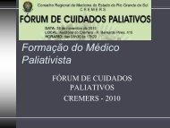 Formação do Médico Paliativista - Dra.Maria Goretti Maciel - Cremers