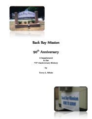 History Supplement- 90th Anniversary - Back Bay Mission