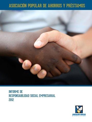 Informe de Responsabilidad Social. - Asociación Popular de ...
