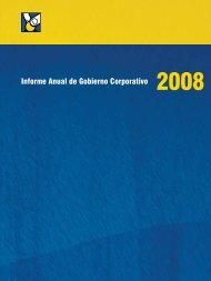 Informe Anual de Gobierno Corporativo 2008 - Asociación Popular ...
