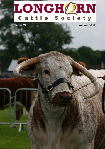 Newsletter No. 73 - Longhorn Cattle Society