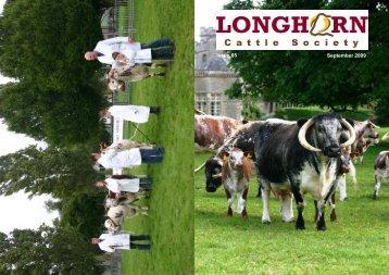 Newsletter No. 65 - Longhorn Cattle Society