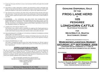 Longhorn Frog Lane Herd.indd - Longhorn Cattle Society
