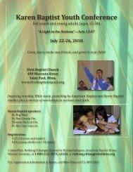 Conference flyer (includes Karen translation) - American Baptist ...
