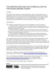 the identification and use of spiritual gifts in the disciple-making church