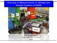 Overview of Measurements on Strange and Nuclear Systems at MAMI