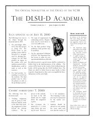THE DLSU-D ACADEMIA
