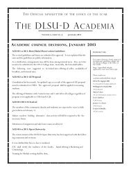 January 2013 DLSU-D Academia vol 4 issue no. 6