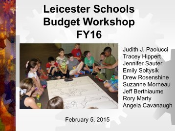 Budget Workshop, 2-5-14