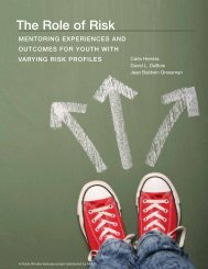 Role of Risk- Mentoring Experiences and Outcomes for Youth with Varying Risk Profiles
