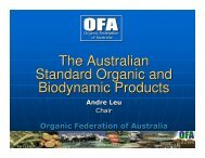 The Australian Standard Organic and Biodynamic Products The ...