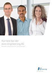 Karriere bei der euro engineering  AG