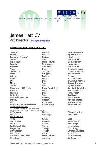 James Hatt CV - Wizzo & Co