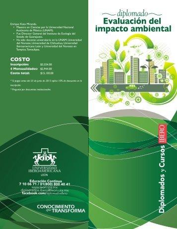Evaluación del impacto ambiental diplomado - Universidad ...
