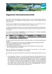 Reglement Interclubmeisterschaft - Golfclub Domat/Ems
