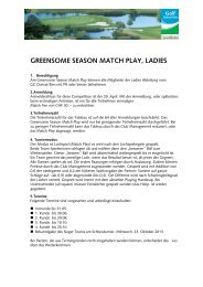 Reglement Ladies GreensomeSeason MatchPlay - Golfclub Domat ...