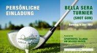 PERSÖNLICHE EINLADUNG - Golfclub Domat/Ems
