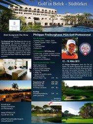 Philippe Freiburghaus PGA Golf Professional - Golfclub Domat/Ems