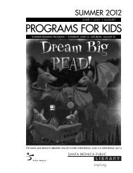 PROGRAMS FOR KIDS - Santa Monica Public Library