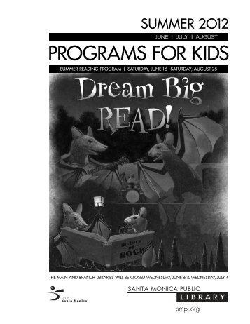 PROGRAMS FOR KIDS - Santa Monica Public Library