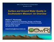 Ground water quality - Tri-State Water Coalition