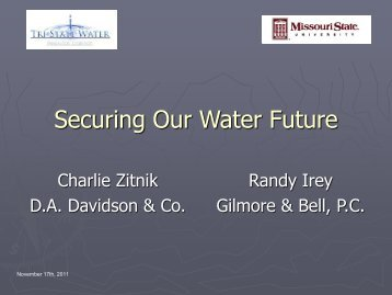 Joint Municipal Utility Commissions - Securing water for our future