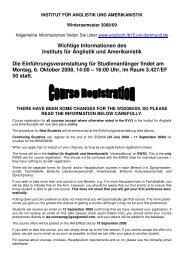 Wichtige Informationen des Instituts für Anglistik und ... - Iaawiki