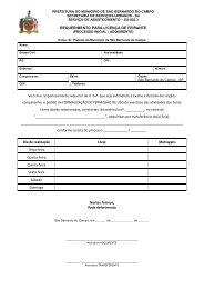 Preenchimento manual - Prefeitura de São Bernardo