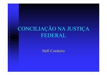 conciliação na justiça federal - Tribunal Regional Federal da 4ª ...