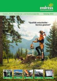 Endress Garten-Forstgeräte Katalog 2015