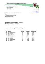 Rundenwettkampf LG Kreisliga 1 - Kreisschützenverband ...