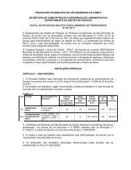 Edital PELC 2011 - Prefeitura de São Bernardo do Campo