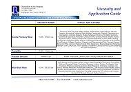 Ross Viscosity Application Guide - Fluid Energy