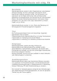 Marketingfachleute mit eidg. FA - Tobler + Tobler