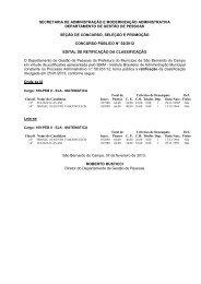 edital de retificação da classificação e homologação cp n.º 02/2012