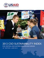 2012 CSO Sustainability Index for Central and Eastern Europe - pasos