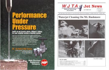 October - Waterjet Technology Association