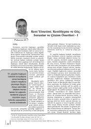 Kent Yönetimi, Kentlileşme ve Göç: Sorunlar ve ... - Yerel Siyaset
